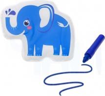 Игрушка для ванны Слоник с пищалкой (+ водный карандаш)