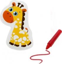 Игрушка для ванны Жирафик с пищалкой (+ водный карандаш)