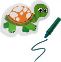 Игрушка для ванны Черепашка с пищалкой (+ водный карандаш)