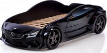 Кровать-машина EVO Мазда объемная 3d, черный