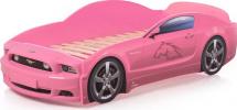 Кровать-машина LIGHT PLUS Мустанг, розовый
