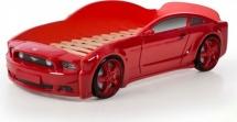 Кровать-машина EVO Мустанг объемная (3d), красный