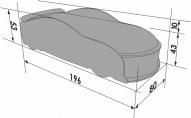 Кровать-машина UNO Ауди-А6, белый