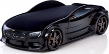 Кровать-машина NEO Мерседес объемная 3d, черный