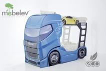 Двухъярусная кровать Мебелев Скания+2, синий