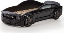 Кровать-машина EVO Мустанг объемная (3d), черный