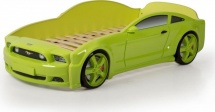 Кровать-машина EVO Мустанг объемная (3d), зеленый