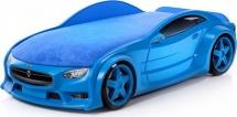 Кровать-машина NEO Тесла объемная 3d, синий