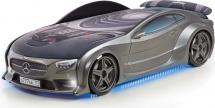 Кровать-машина NEO Мерседес объемная 3d с максимальным набором опций, графит