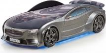 Кровать-машина NEO Тесла объемная 3d с максимальным набором опций, графит