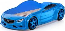 Кровать-машина EVO Мазда объемная 3d, синий