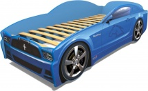 Кровать-машина LIGHT Мустанг, синий