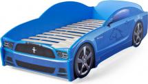 Кровать-машина LIGHT Мустанг, синий (уценка)