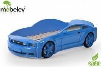 Кровать-машина EVO Мустанг объемная (3d), синий