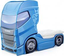 Кровать-грузовик Мебелев Скания+1, синий