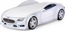 Кровать-машина NEO Тесла объемная 3d, белый