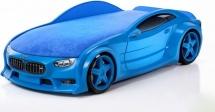 Кровать-машина NEO БМВ объемная 3d, синий