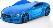 Кровать-машина NEO Мерседес объемная 3d, синий