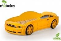 Кровать-машина EVO Мустанг объемная (3d), желтый