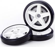 Объемные пластиковые колеса комплект 2 шт, в цвет корпуса кроватки-машинки