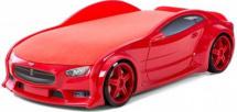 Кровать-машина NEO Тесла объемная 3d, красный