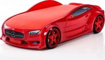 Кровать-машина NEO Мерседес объемная 3d, красный