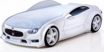 Кровать-машина NEO Мазерати объемная 3d, белый