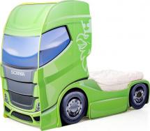 Кровать-грузовик Мебелев Скания+1, лайм