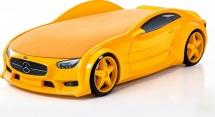 Кровать-машина NEO Мерседес объемная 3d,  желтый
