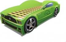 Кровать-машина LIGHT Мустанг, зеленый