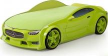 Кровать-машина NEO Мерседес объемная 3d, зеленый