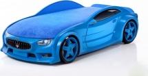 Кровать-машина NEO Мазерати объемная 3d, синий