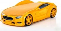 Кровать-машина NEO Тесла объемная 3d,  желтый