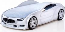 Кровать-машина NEO Вольво объемная 3d, белый
