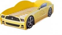 Кровать-машина LIGHT Мустанг, желтый
