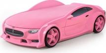 Кровать-машина NEO Тесла объемная 3d,  розовый