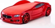Кровать-машина NEO Мазерати объемная 3d, красный