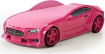Кровать-машина NEO Мерседес объемная 3d, розовый