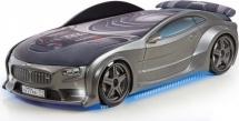 Кровать-машина NEO БМВ объемная 3d с максимальным набором опций, графит