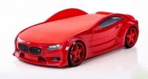 Кровать-машина NEO БМВ объемная 3d, красный