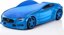 Кровать-машина NEO Вольво объемная 3d, синий
