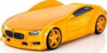 Кровать-машина NEO БМВ объемная 3d, желтый