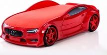 Кровать-машина NEO Вольво объемная 3d, красный
