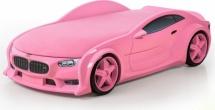 Кровать-машина NEO БМВ объемная 3d, розовый