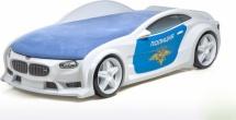 Кровать-машина NEO БМВ объемная 3d, Полиция