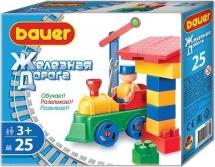 Конструктор Bauer Железная дорога 25 элементов