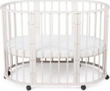 Кроватка-трансформер Sleepy 8 в 1 овальная, бежевый