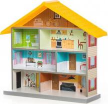 Кукольный домик MiMi, желтый