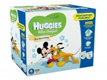 Подгузники Huggies Ultra Comfort для мальчиков 4 (8-14 кг) 126 шт