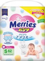 Трусики Merries S (4-8 кг) 62 шт
